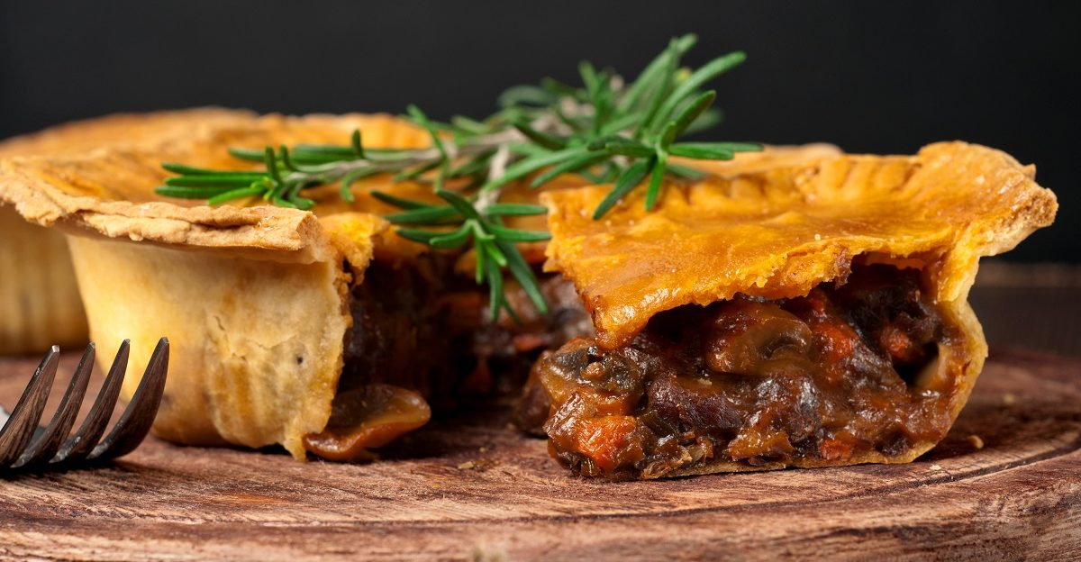 Homemade Beef Pot Pie pairs perfectly with Guigal Hermitage Rouge